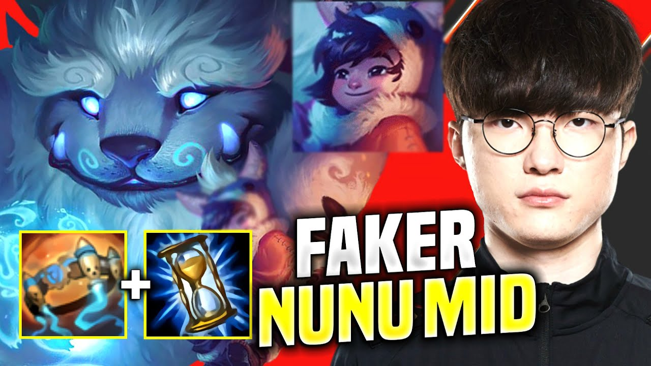 FAKER CRAZY NUNU MID PICK! - SKT T1 Faker Plays Nunu Mid vs Corki! | KR SoloQ Patch 10.13