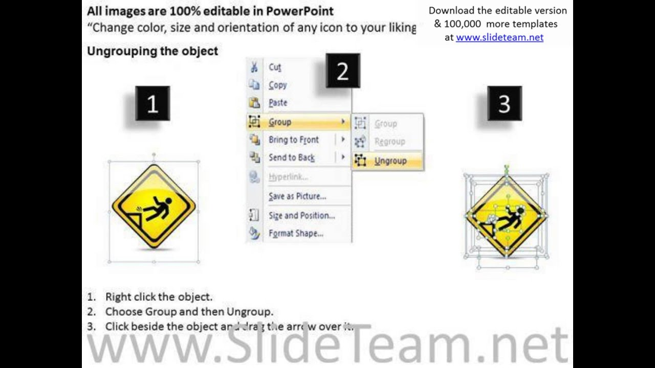 consulting powerpoint template fall danger warning sign templates pptx