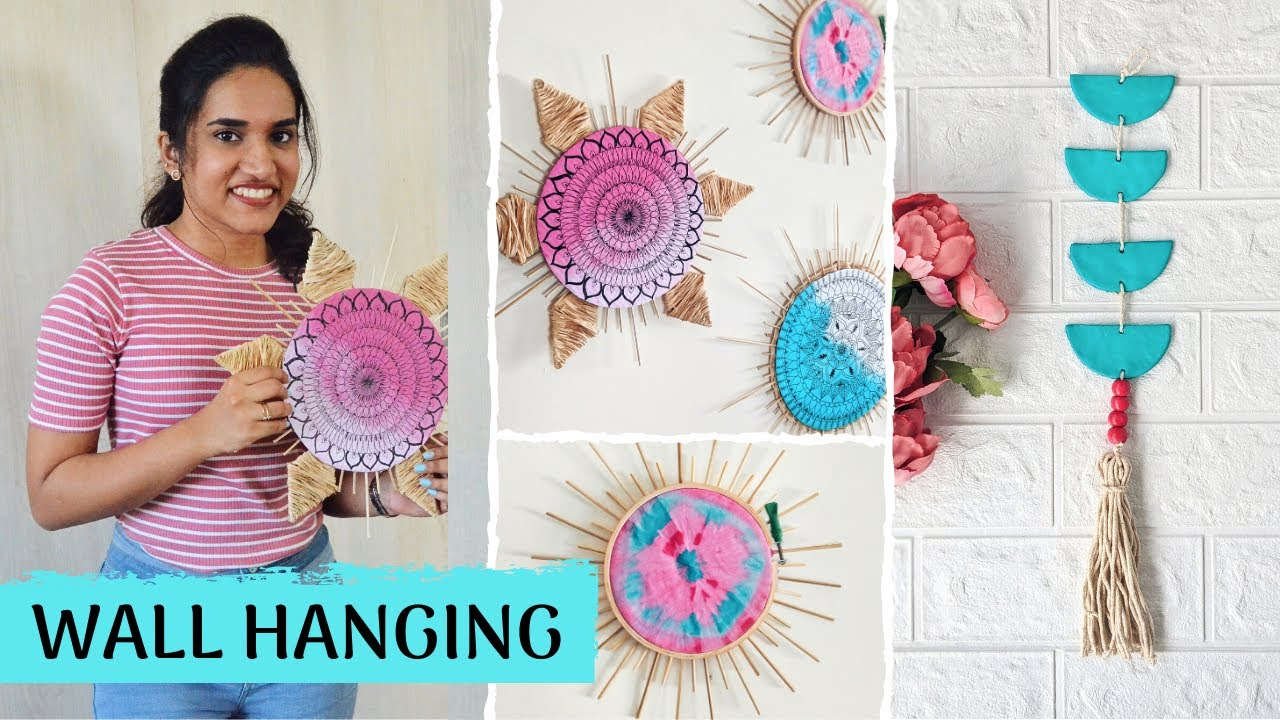 Diy Wall Hanging Ideas Boho Pinterest Inspired Home Decor Youtube