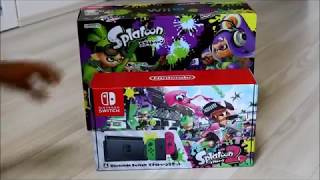 Unboxing the Japan limited Nintendo Switch Splatoon Bundle!
