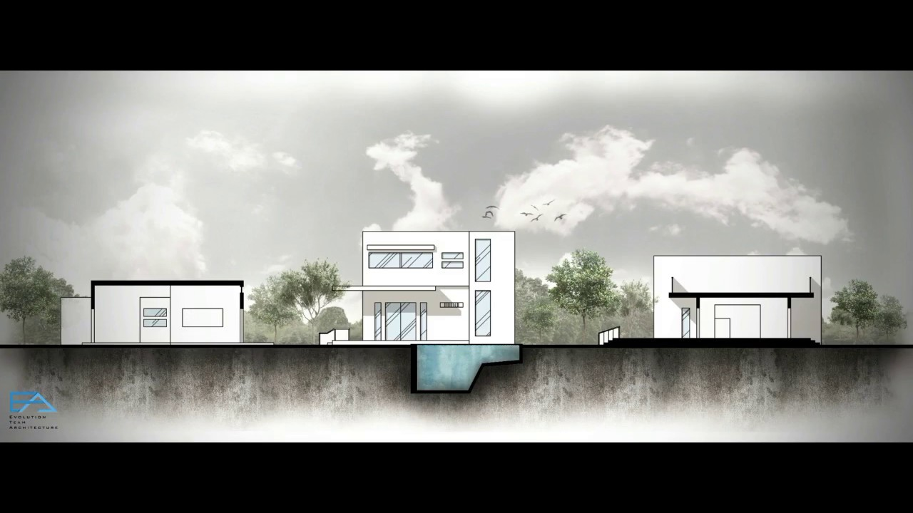Architectural Section Rendering - Timelapse | Photoshop ...