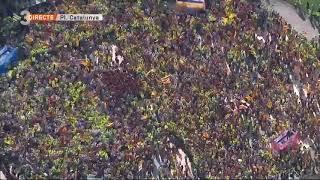 Minut silenci a Barcelona, + un milió de ciutadans