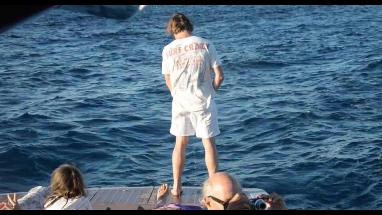 Peeing in the sea