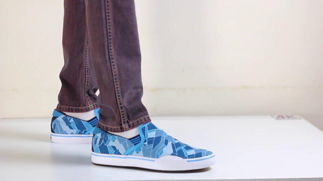 the best attitude d8882 827c2 Adidas Originals Gonz Slip Gore-Tex Espadrille Blue Sneakers On feet