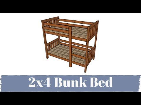How to Build a Bunk Bed from 2x4s