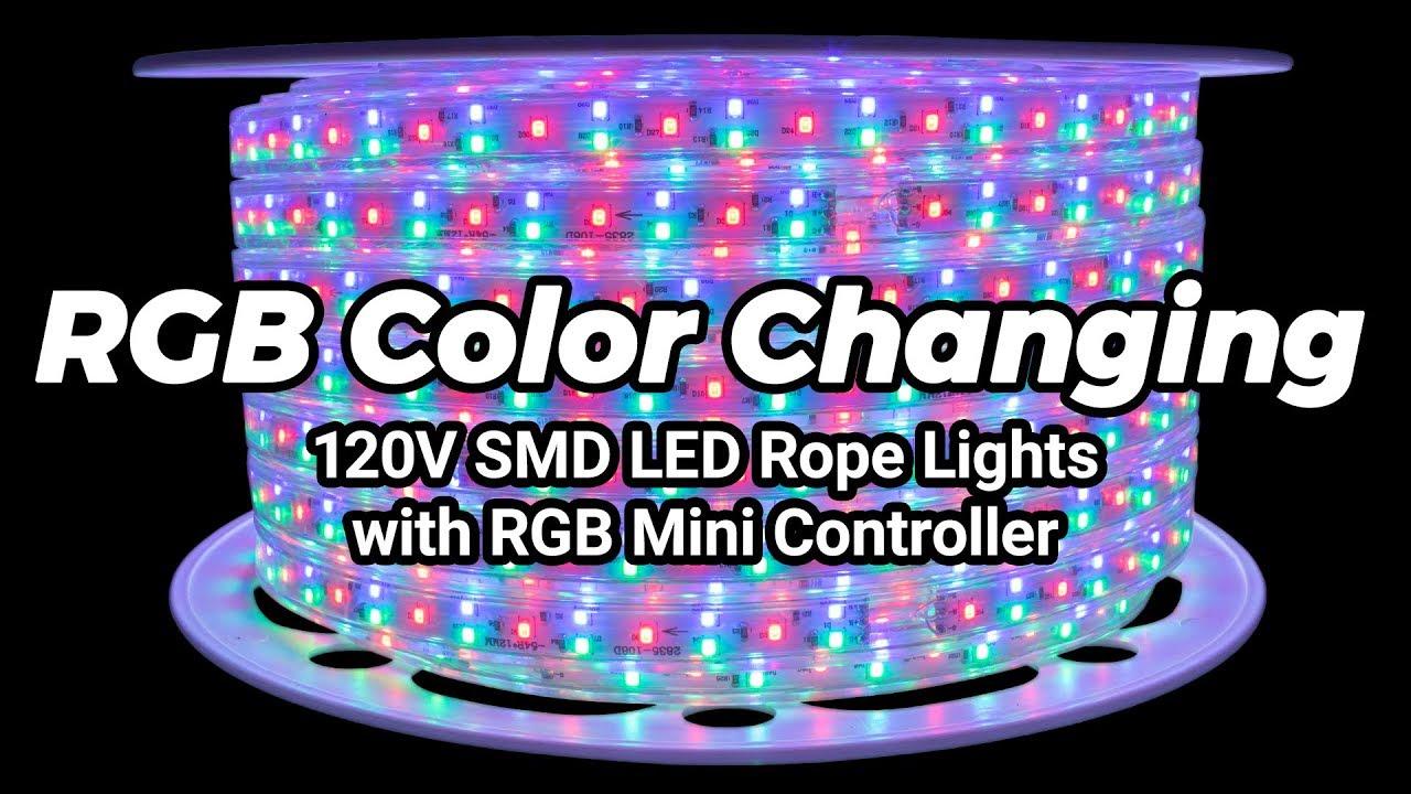 huge selection of 09015 4aa0c 120V RGB SMD LED Rope Light Mini Controller - Full Showcase