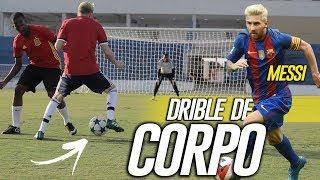 APRENDA DRIBLE DE CORPO DO MESSI - (Lances efetivos de futebol)
