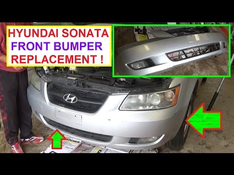 How To Remove And Replace The Front Bumper Cover On