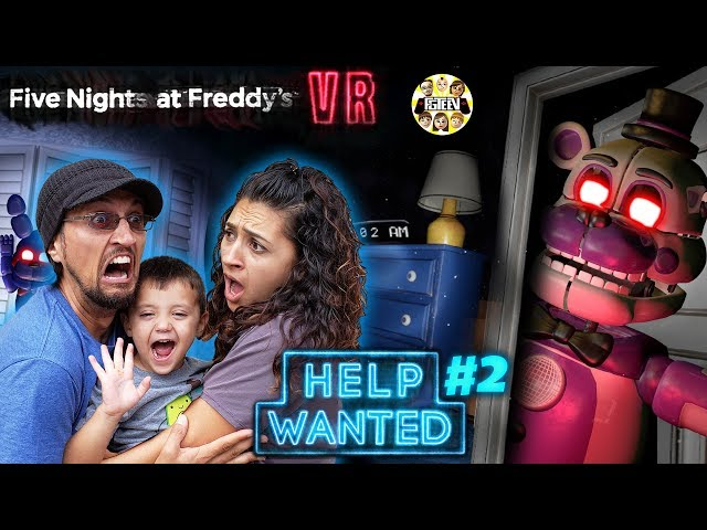 FIVE NIGHTS at FREDDYs HELP WANTED #2! Mom Plays & We GLITCHED the GAME! (FGTEEV FNAF Real Life?)