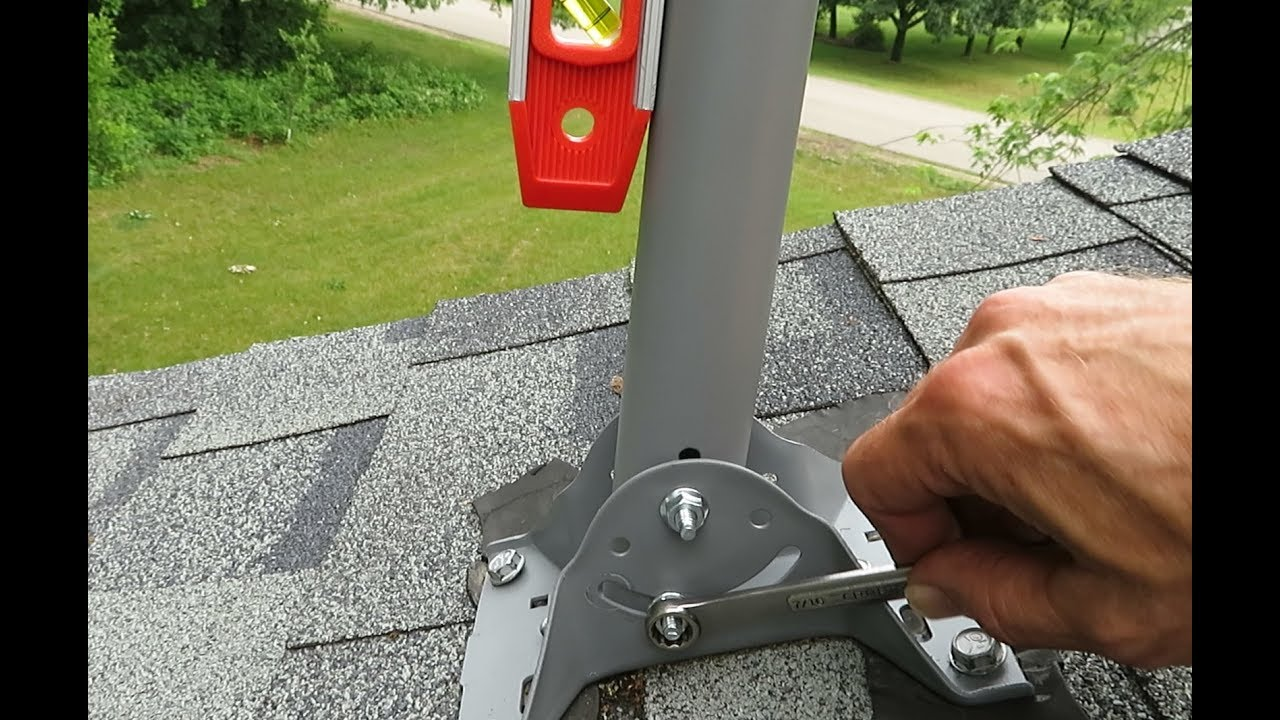 How To Install An Off Air Roof Antenna Using A Former