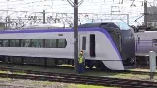 【スーパーあずさ新型車両 公式試運転】JR東日本E353系量産先行車 松本車S101+S201編成 松本・南松本