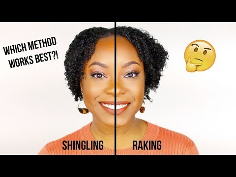 Raking vs. Shingling to Define Your Curls   Which Method Gives THE BEST Results?! (Detailed)