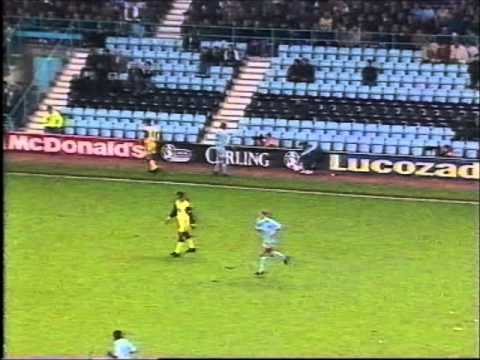Coventry City 3 Tottenham 2  League Cup 1995-96