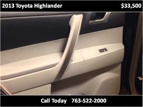 2013 toyota highlander used cars golden valley mn youtube for Poquet motors golden valley mn