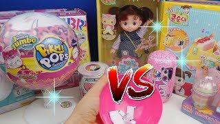 Jumbo Pikmi Pops vs Mini Pikmi Pops Koreli Oyuncak Bebeğim ile Challenge! Bidünya Oyuncak