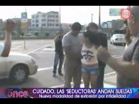 A las Once: Cuidado! Las seductoras andan sueltas: nueva modalidad de extorsión -11/09/2012