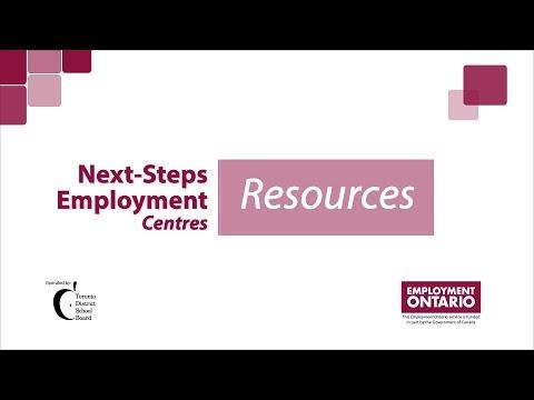 Next-Steps Employment Centres - Resources