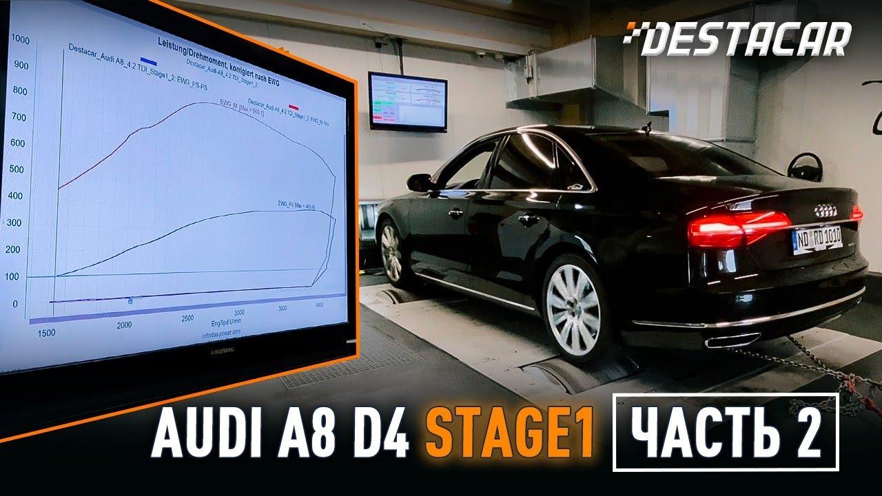 Audi A8 4,2d D4 Stage 1 замеры результатов.