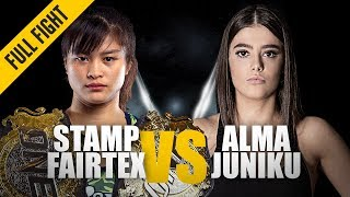Stamp Fairtex vs. Alma Juniku | ONE Full Fight | Thrilling Muay Thai Duel | June 2019