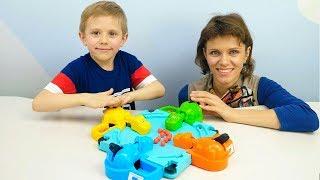Весёлое видео для детей - ГОЛОДНЫЕ БЕГЕМОТИКИ - Играем с Даником в развивающие игры