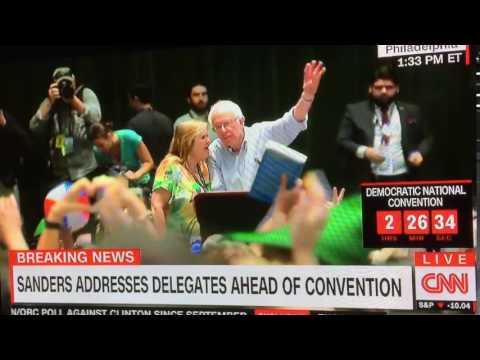 Hot mic picks up Jane Sanders telling Bernie something about nomination?