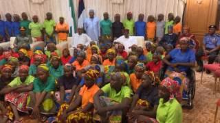 President Muhammadu Buhari Receives 82 Freed Chibok Girls
