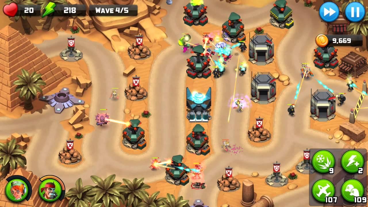 Alien Creeps Walkthrough Level 40 Sphinx Hijinks for 3 Stars Campaign  gameplay