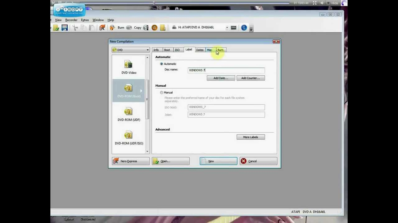 how to make bootable disk from iso file using nero