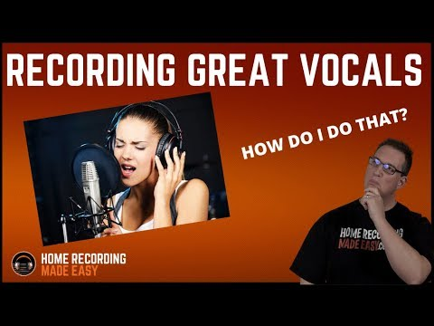 Recording Vocals - How to Record Vocals - How To Achieve Professional Vocals