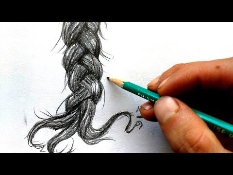 """Como dibujar cabello """"TRENZAS"""" paso a paso."""