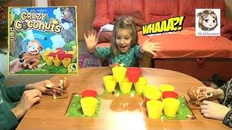 CRAZY COCONUTS 🐵 Verrückte Affen und fliegende Kokosnüsse 🐵 Aktionsspiel für Kinder
