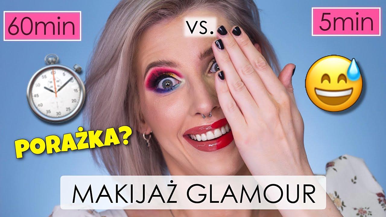Makijaż GLAMOUR w 60 MINUT vs 5 MINUT!⏱- Czy TO może się udać?😅