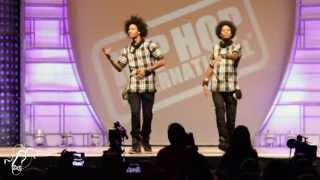 Les Twins | World Hip Hop Dance Finals 2013 | #SXSTV(Les Twins | World Hip Hop Dance Finals 2013 | Step x Step Les Twins performed at Hip Hop International's World Hip Hop Dance Championship Finals 2013 on ..., 2013-08-13T23:12:27.000Z)
