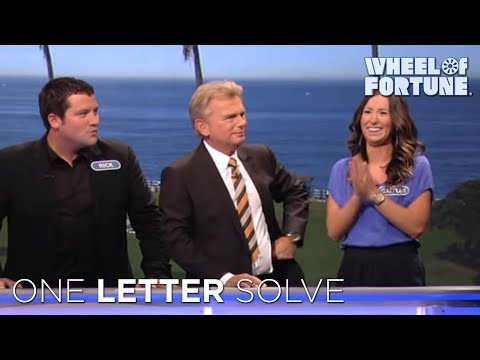 Wheel of Fortune: Amazing One Letter Solve!   YouTube