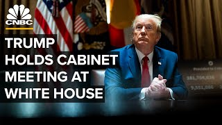 President Trump holds cabinet meeting at the White House - 5/19/2020