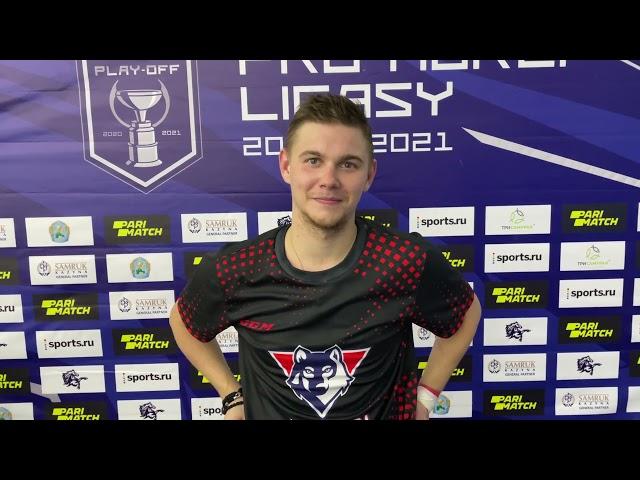 Послематчевые интервью игроков, Константин Пархоменко - Мамед Сейфулов.