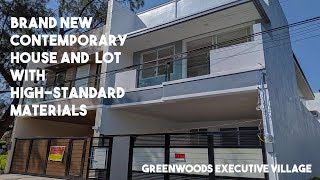 Brand New Contemporary Single-Attached House in Greenwoods Executive Village, Pasig Video