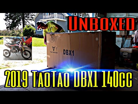 Unboxing 2019 Tao Tao DBX1 140cc Pit Bike from SuperiorPowersports.com |Time Lapse Setup|