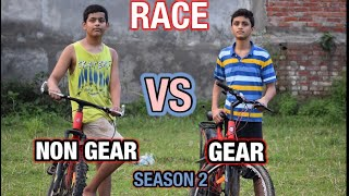 GEAR CYCLE VS NON GEAR CYCLE  RACE