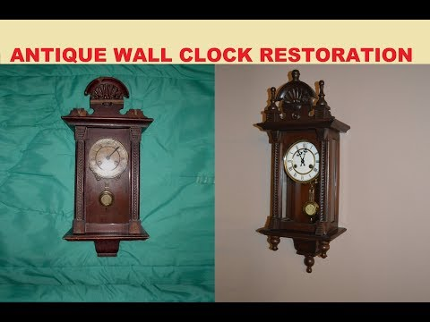 1920's ANTIQUE WALL CLOCK RESTORATION