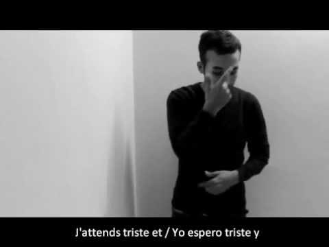 Pablo Alborán, Solamente Tú en francés LSF (letras francés-español)