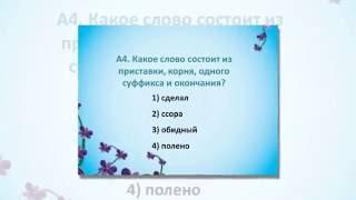 Русский язык. 6 класс. Тест 1. Вариант 2.