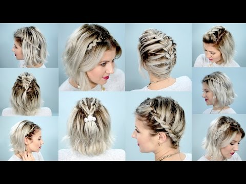 10 Easy Braids For Short Hair Tutorial Milabu Youtube