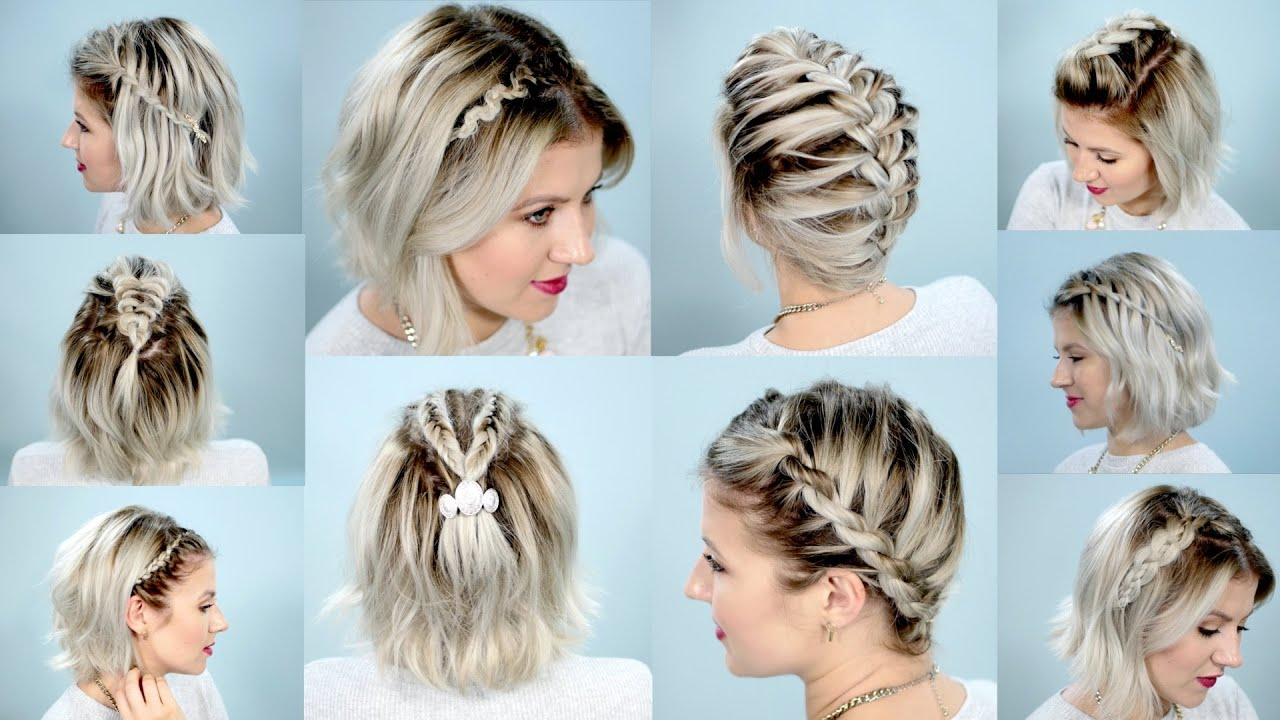 Cute Hair Styles For Medium Hair: 10 EASY BRAIDS FOR SHORT HAIR TUTORIAL