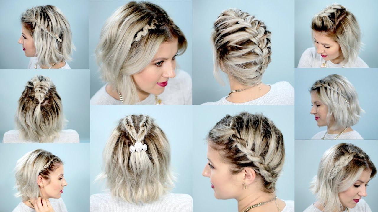 10 easy braids for short hair tutorial | milabu