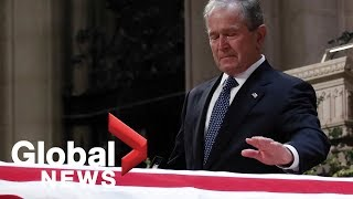 Bush funeral: George W. Bush's full eulogy to his father