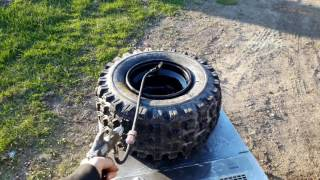 Seating the bead on 4 wheeler tires
