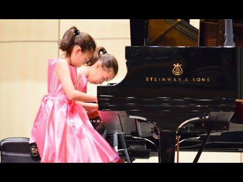 Schubert - Marche Militaire Op. 51 No. 1 Allegro Vivace, USOMC | Harriet Gensler and Annabel Gensler