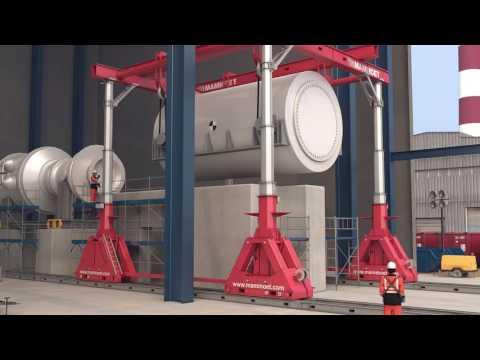Mammoet Hydraulic Gantry (SBL1100) – Stator Installation