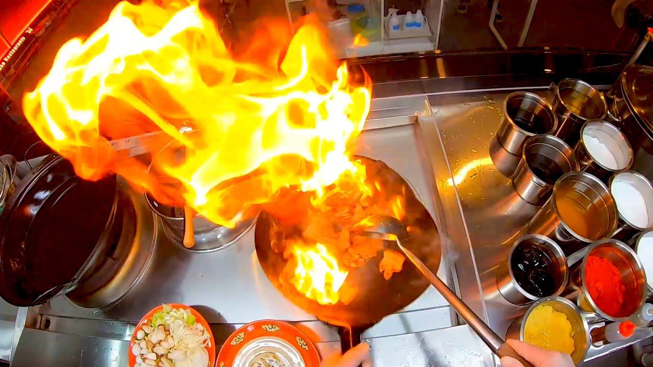 [중화요리] 중국집 오겹살은 웍에 불에 지져야한다. / grilled pork
